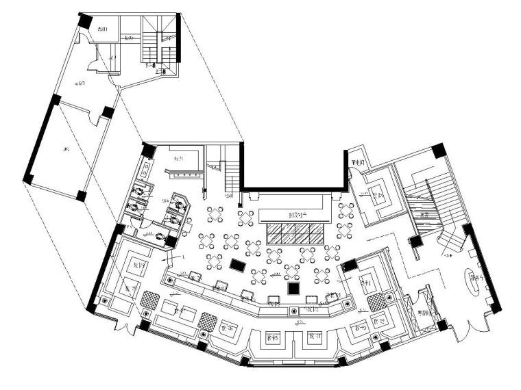 [福州]欧式简约风——兰博基尼休闲酒吧装饰施工图及效果图