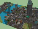 夏威夷风城市规划SU模型