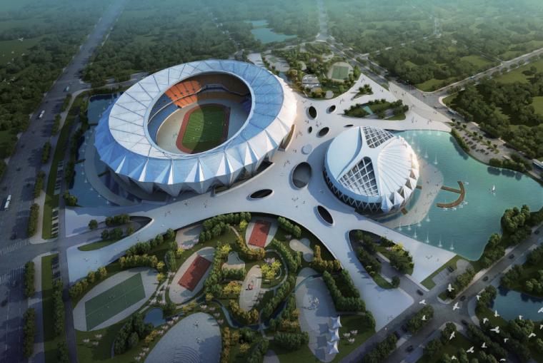 [西藏]拉萨文化体育中心建筑规划PDF(79张)