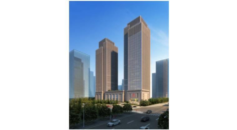 [重庆]新闻传媒中心一期工程塔楼水平防护方案(附:防护大棚施工方案用图)