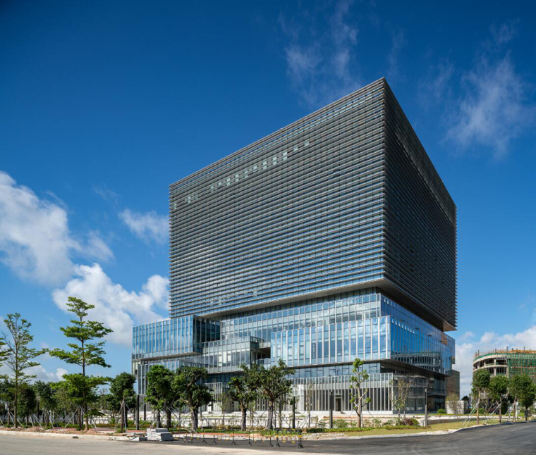 珠海天圆地方概念的医药科技产业园总部大楼-6