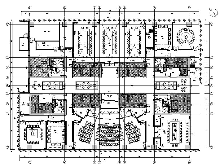 [广东]南山开发集团大厦办公空间设计施工图(附效果图+软装)