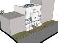 柯布西耶——普拉内克斯住宅SU建筑模型