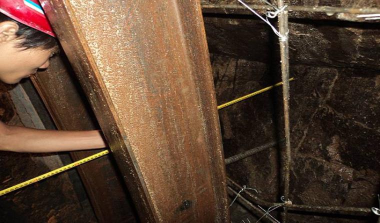 隧道工程质量通病图文展示(PPT,119页)-隧道拱架位置超挖严重