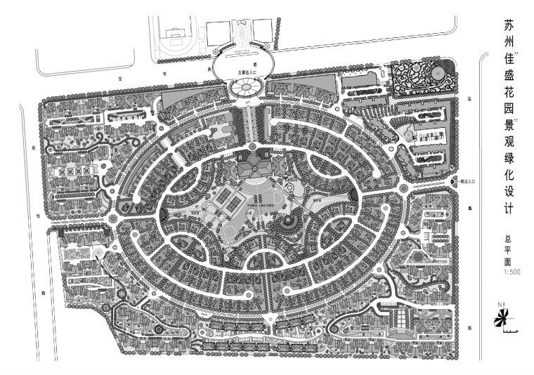 53套别墅区规划设计总平面(CAD图纸)