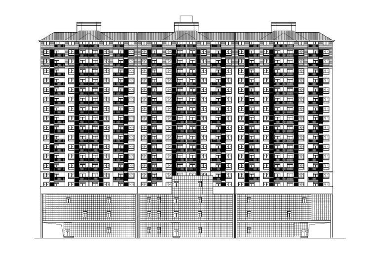 [湖北]商贸城商住综合体建筑施工图(CAD)
