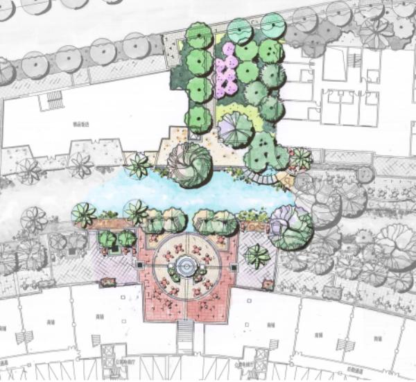 [广东]多功能多层次滨水休闲景观设计方案-分段平面图