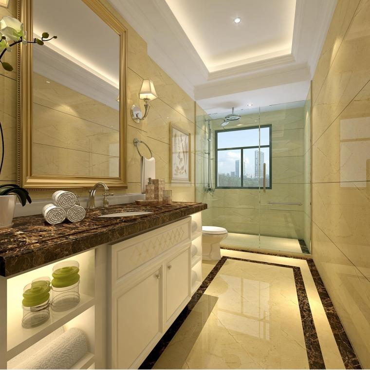 深圳南山绿海湾170平方米4居室(优雅欧式)_5
