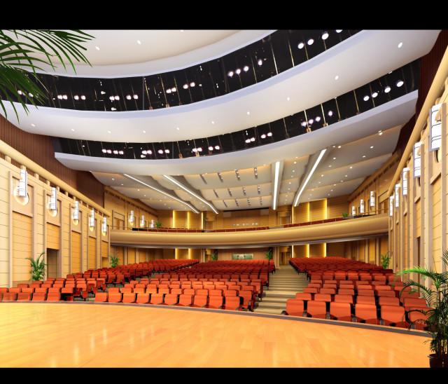 观众厅角度一_副本-钢花影剧院设计方案第8张图片