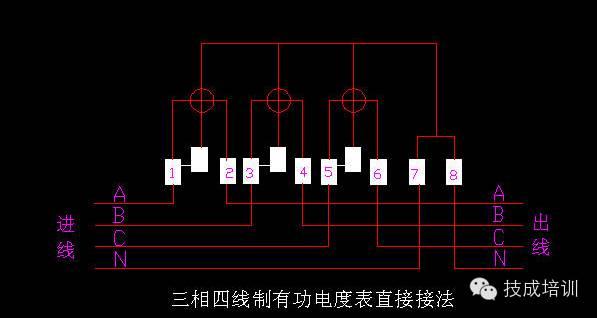配电柜上电流表与互感器的接线图_5