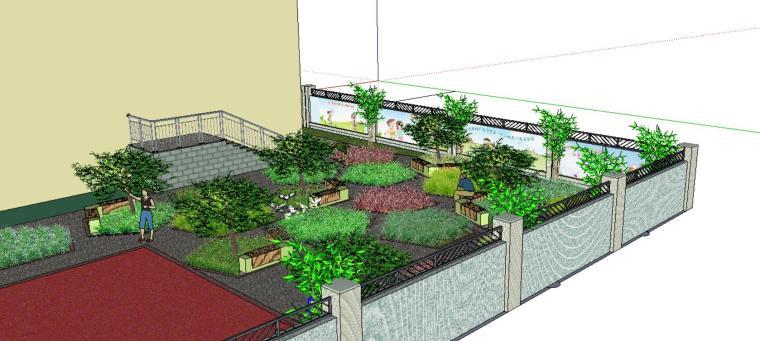 休闲庭院景观设计模型-场景二
