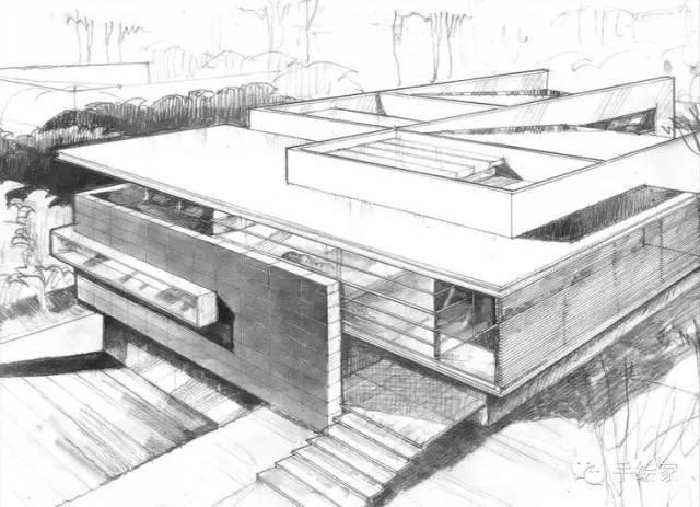 百年经典建筑设计手绘图_63
