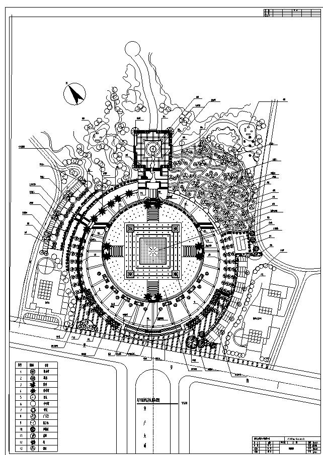 重庆广安思源广场景观工程CAD全套施工图_7