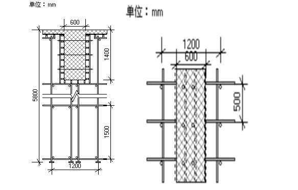 大跨度梁模板支设方案