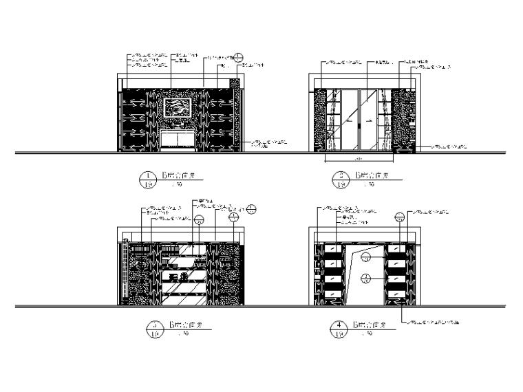 【北京】两套时尚经典别墅设计CAD施工图二_5
