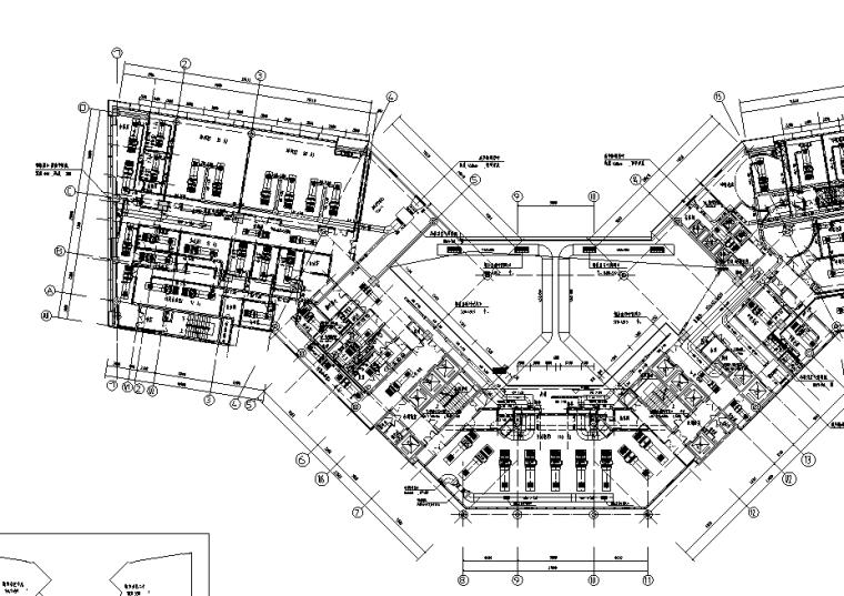 海南五星级酒店暖通设计施工图(含冷冻机房详图及管井大样等)