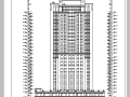 现代高层宾馆酒店建筑设计施工图CAD