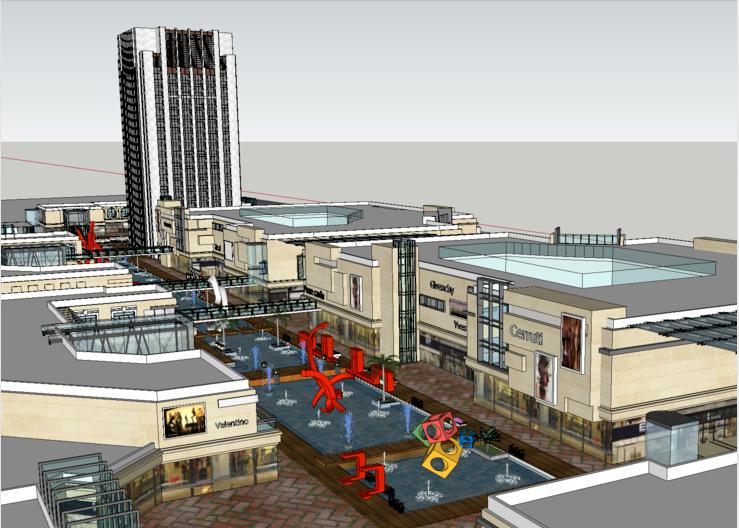 商业街和城市综合体SU模型