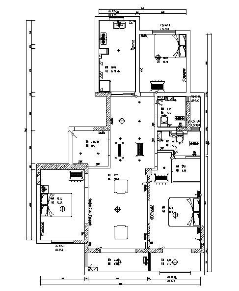 美式风格优山美地住宅设计施工图(附效果图)