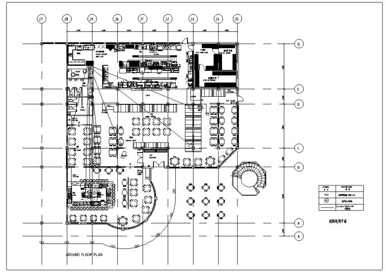 [上海]某知名餐厅弱电平面图_2