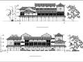 中式仿古多层民居式客栈建筑设计初设图CAD