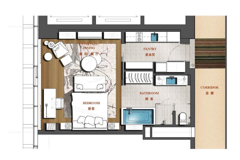 [江苏]南京雨润国际广场酒店式公寓设计概念图片