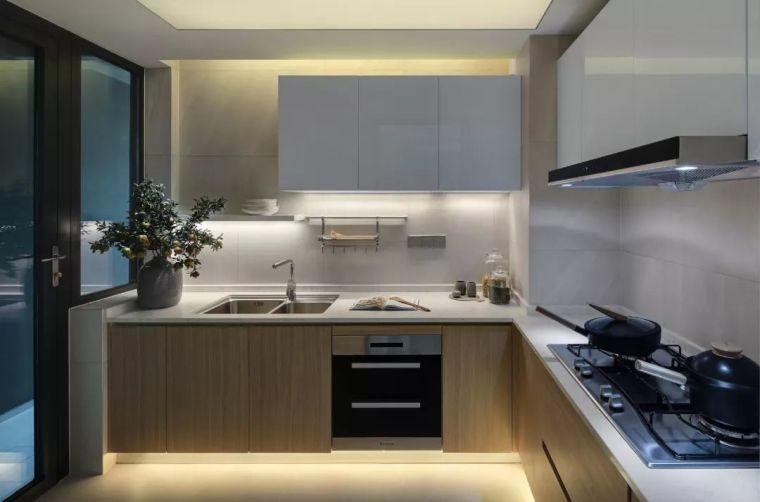 看看这两套样板房设计,用黑白灰勾勒出的简约风_36