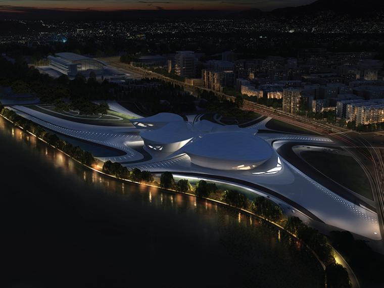 indesign文本模板资料下载-扎哈.哈迪德——江苏大剧院建筑设计方案文本