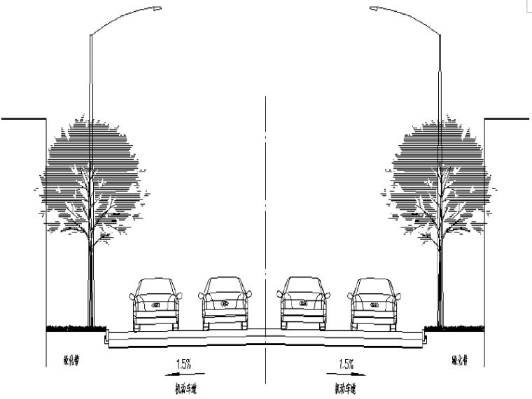 [四川]鸿雁路道路提质改造工程施工图设计
