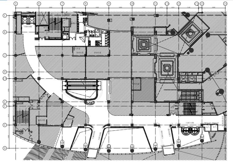 [福州]三迪中心商场深化设计施工图CAD+PDF(附高清效果图)