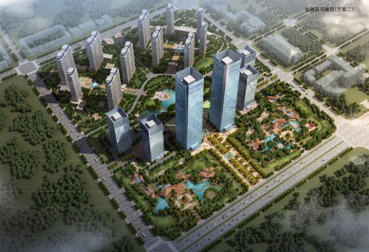 [黑龙江]大庆高新区金融产业园建筑设计方案文本