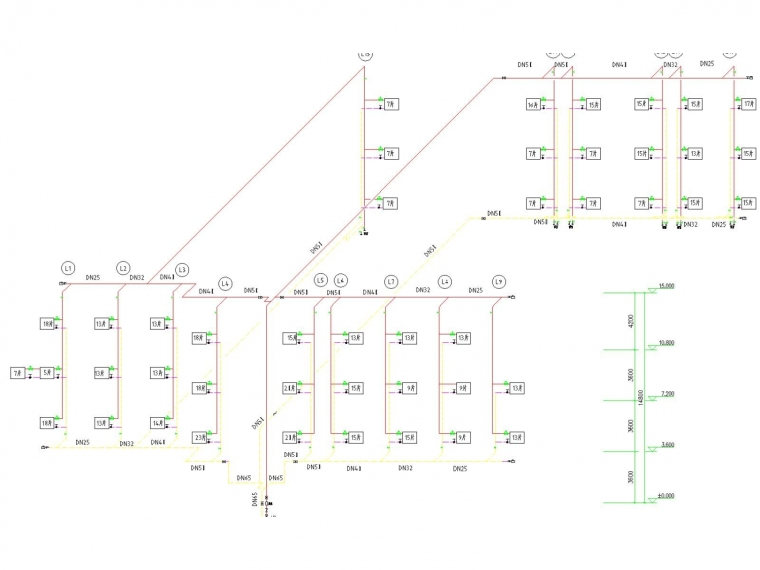 多层办公楼采暖系统设计施工图