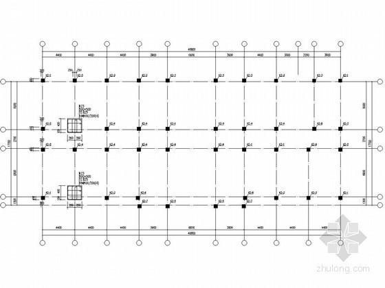 [学士]四层框架教学楼结构施工图(含建筑图)