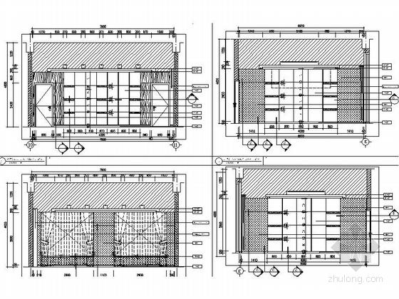 [北京]石油化工有限公司现代会议中心室内装修施工图会议室立面图