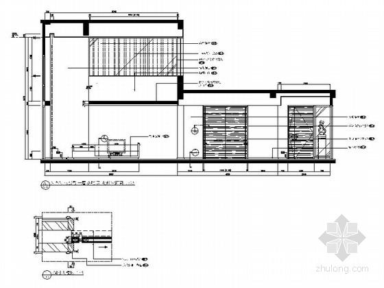 [上海]精品现代大气三层小别墅施工图客厅及走廊