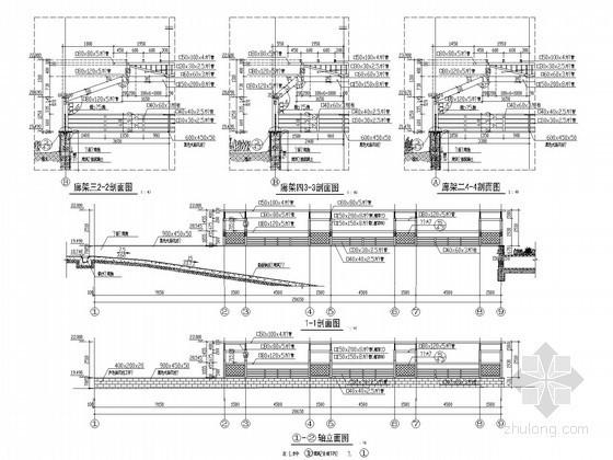 园林景观车库廊架施工详图17例