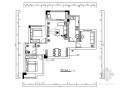 [湖北]清新简约现代三居室室内装修设计施工图(含效果)
