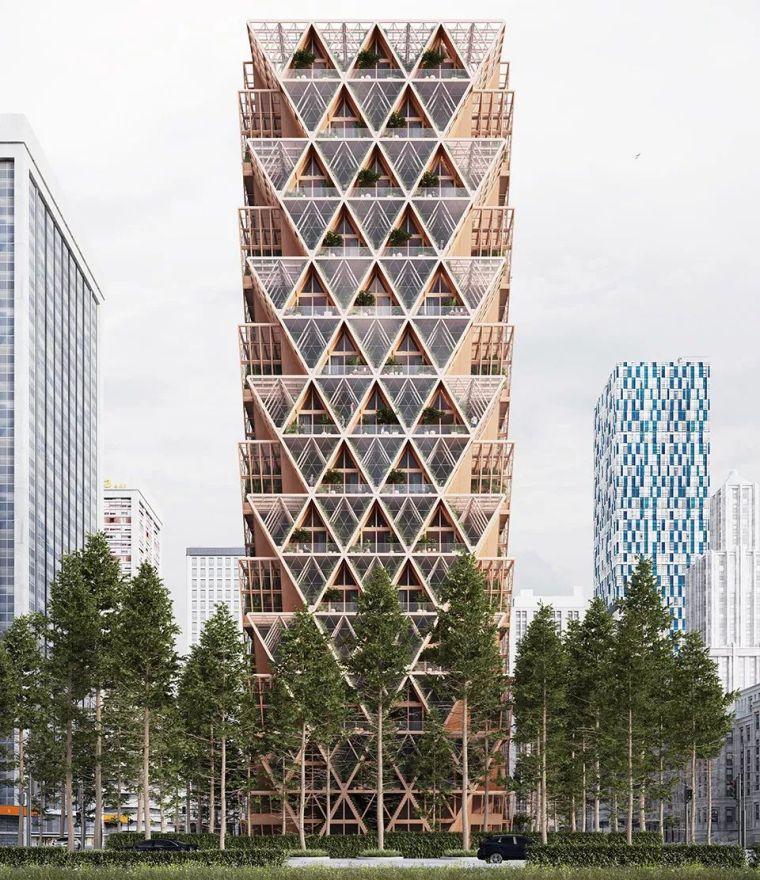 拥有独立生态系统的大楼-城市中的垂直农场_4