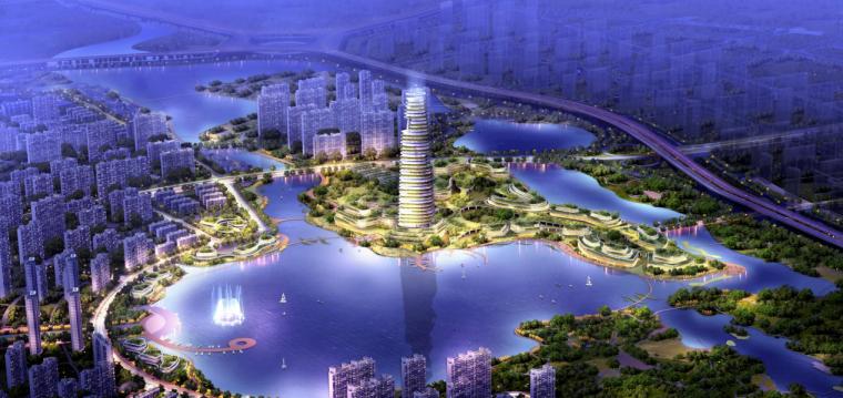 [河南]郑州西流湖生态智慧新城城市设计(滨水)C-2效果图