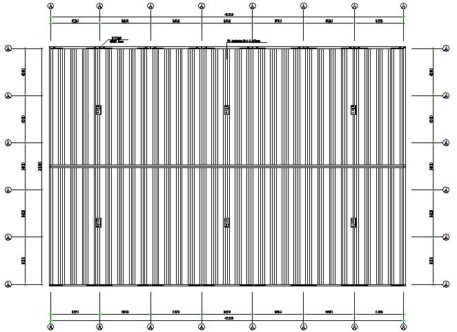 河南单跨门式刚架厂房火电厂工程(CAD,8张)