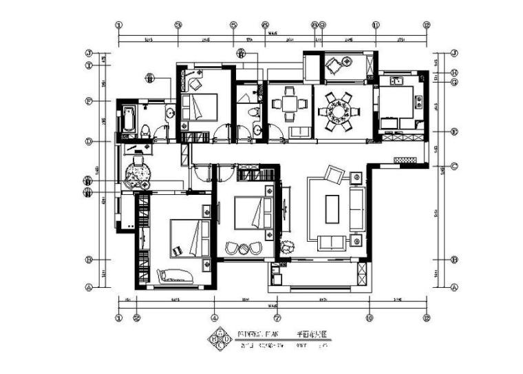 [长沙]欧式低调奢华四居室设计施工图(含效果图)