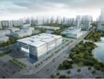 [河南]三层镂空金属板材立面城市展示馆建筑设计方案文本