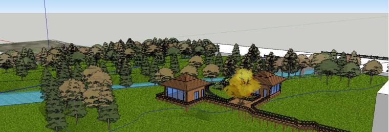 小亭子庭院景观设计模型-场景三