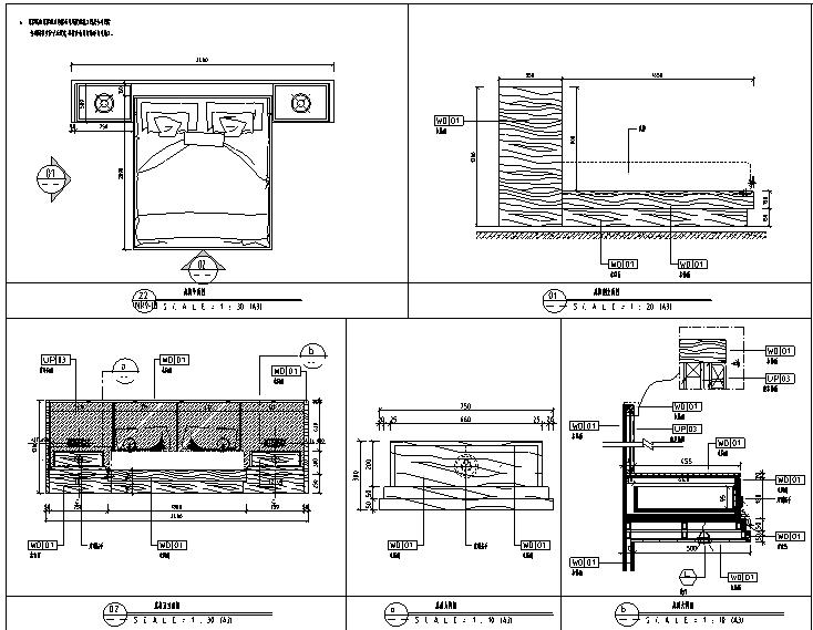 【四川】维尔酒店设计施工图(附效果图+物料表)_1