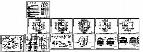 某私人二层砖混住宅别墅图纸