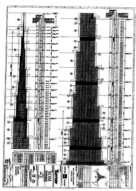 阿联酋某高塔幕墙工程施工组织设计(828m 附图 英文)