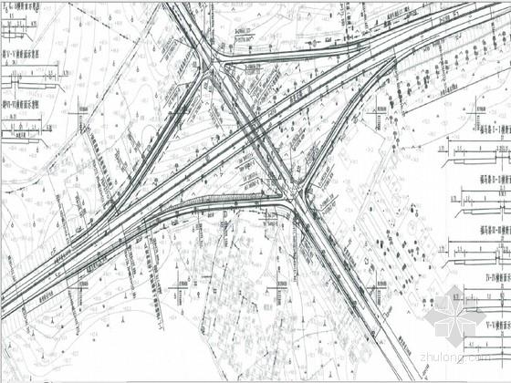 菱形互通立交施工图169页(20米空心板 含涵洞)