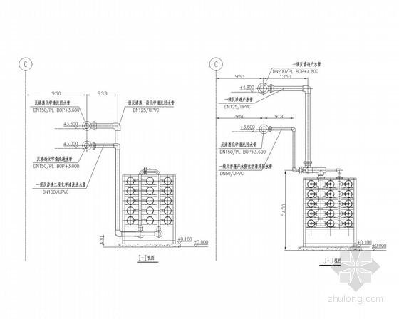 一级反渗透装置安装图I、J侧视图