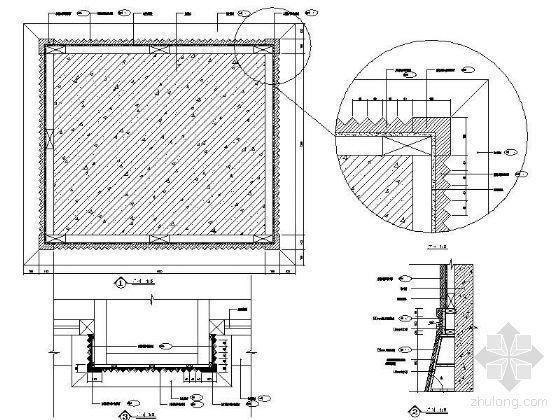 方型装饰柱剖面详图