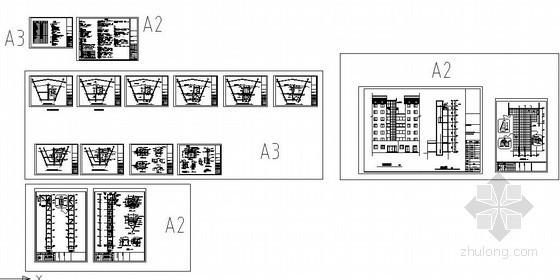 某电梯井钢构结构设计图